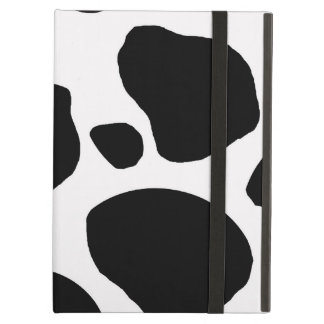 BLACK AND WHITE COW SPOTS PATTERN iPad COVERS