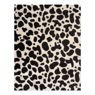 Black and White Cow Spots Scrapbook Stationery Letterhead Template