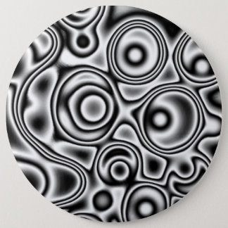 Black and white crazy Button