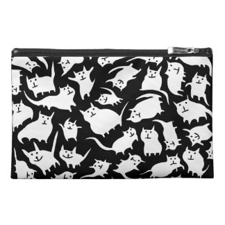 Black and White Crazy Cats Accessory Bag