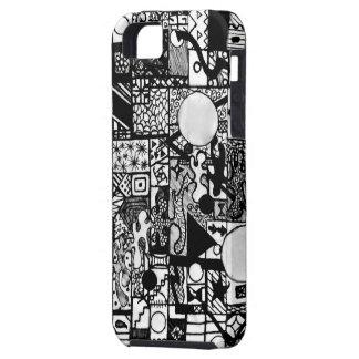Black and white Crazy Design iPhone 5 Case