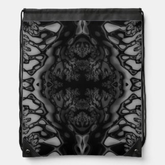 Black and White Crazy Fractal/Kaleidoscope Bag
