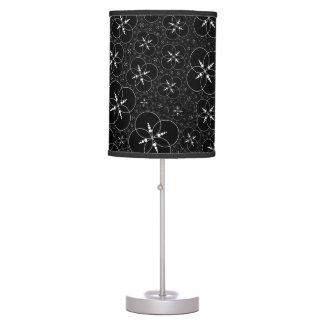 Black And White Crop Circle Desk Lamp