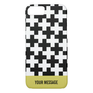 Black and white crosses linked Case-Mate iPhone case