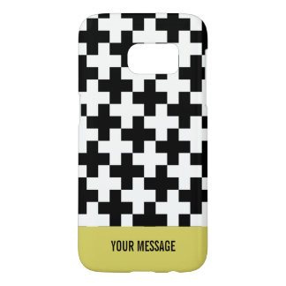 Black and white crosses linked samsung galaxy s7 case