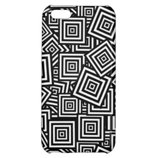black and white cube design iphone 5 cover