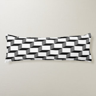 Black and white cubes body pillow
