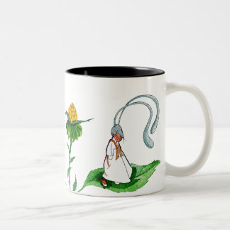 Black and white cup. To very shy I go is waiting. Two-Tone Coffee Mug