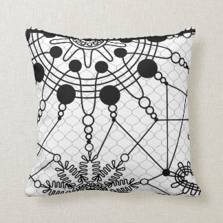 Black and White cushion Traces
