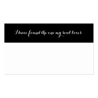 Black and White Custom Blank Wedding Place Cards Business Card