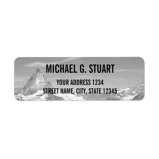 Black and White Custom Photo Return Address Label