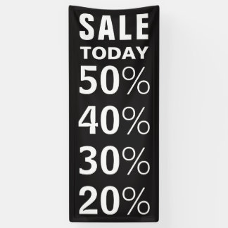 Black and White Custom Retail Sale Announcement Banner