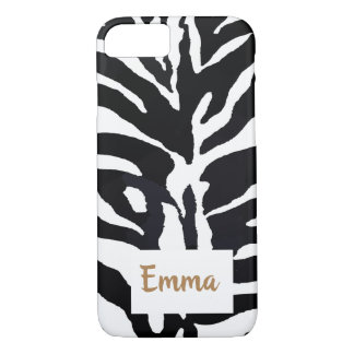 Black and White Customisable Inspirational quote. iPhone 8/7 Case