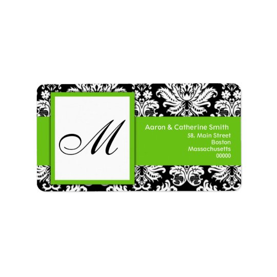 Black and White Customizable Address Labels