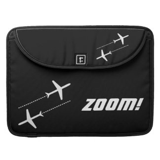 Black and White Customizable Retro Aircraft Design Sleeve For MacBook Pro