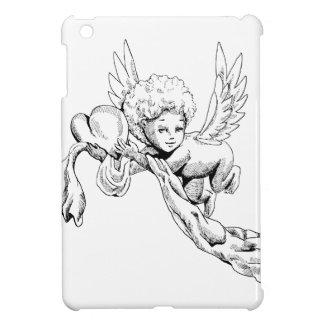 Black and white Cute Angel with heart iPad Mini Case