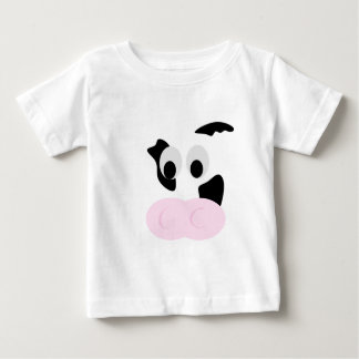 Black and White Dairy Cow or Bovine's face Tees