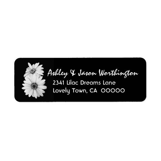 Black and White Daisies Wedding Y301