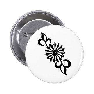 Black and White Daisy 2 Inch Round Button