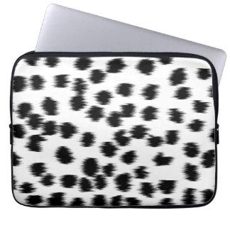 Black and White Dalmatian Print Pattern. Laptop Sleeves