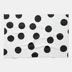 black_and_white_dalmatian_spot_pattern kitchen towel