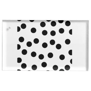 black_and_white_dalmatian_spot_pattern table number holder