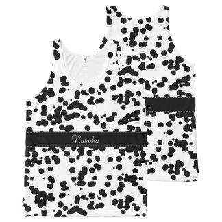 Black and White Dalmatian Spots All-Over-Print Tank Top