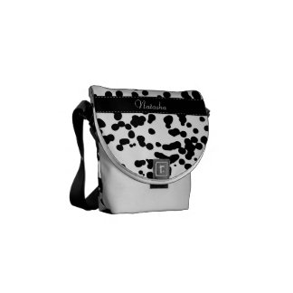 Black and White Dalmatian Spots Courier Bag