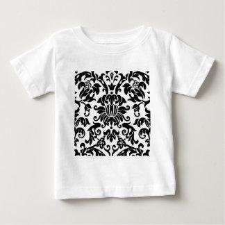 Black and White Damask Baby T-Shirt
