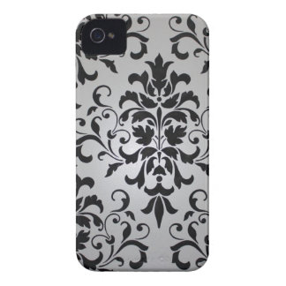 Black and White Damask Case for iPhone 4/4S