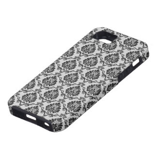 Black and White Damask Case For The iPhone 5