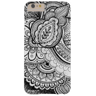 Black and White Damask Ethnic Exotic Mandala Barely There iPhone 6 Plus Case