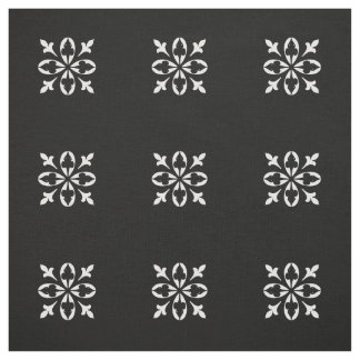 Black and white damask fabric