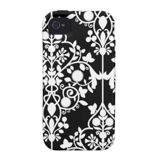 Black and White Damask iPhone 44S case