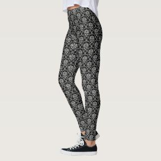 Black and White Damask Leggings