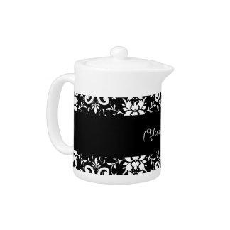 Black and White Damask Matching Kitchen