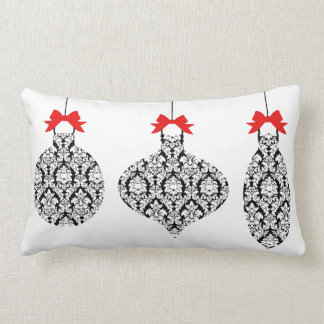 Black and White Damask Ornaments Christmas pillow