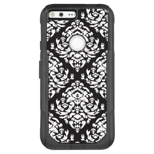 Black and White Damask OtterBox Commuter Google Pixel XL Case