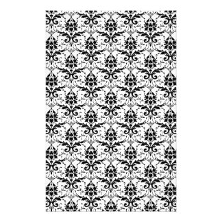 Black and White Damask Patter Scrapbook Paper