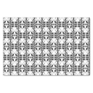 Black and White Damask Tissue Paper
