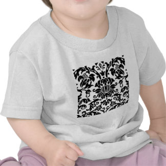 Black and White Damask T Shirt