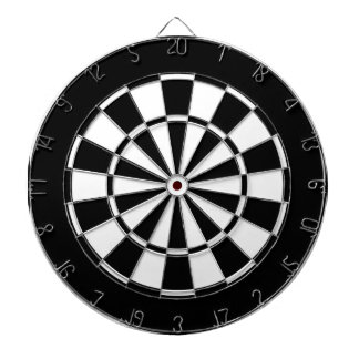 black and white dartboards