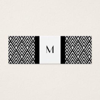 Black and White Deco Monogram Calling Card
