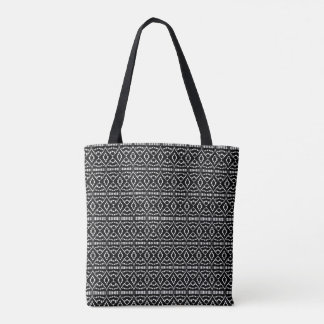 Black and White Deco Style Tote Bag