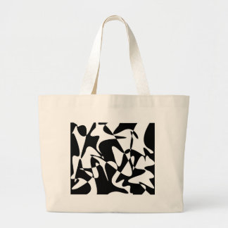 Black and white decorative abstraction jumbo tote bag