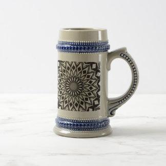 Black And White Decorative Mandala Beer Stein