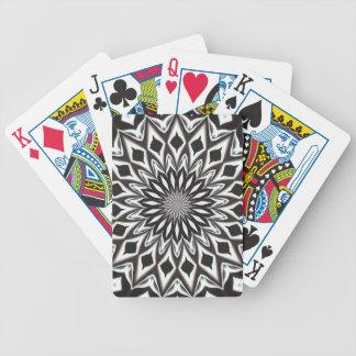 Black And White Decorative Mandala Bicycle Playing Cards