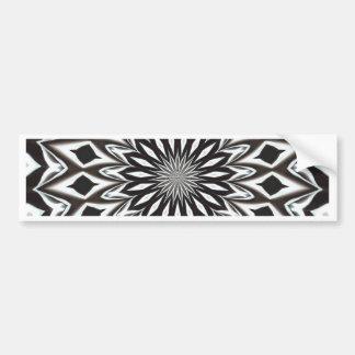 Black And White Decorative Mandala Bumper Sticker