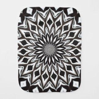 Black And White Decorative Mandala Burp Cloth