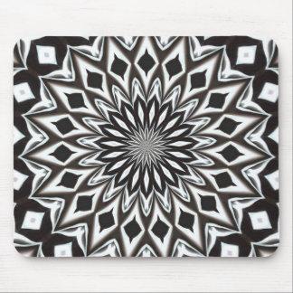 Black And White Decorative Mandala Mouse Pad